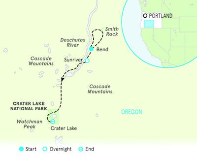 Crater Lake Walking Tour Map