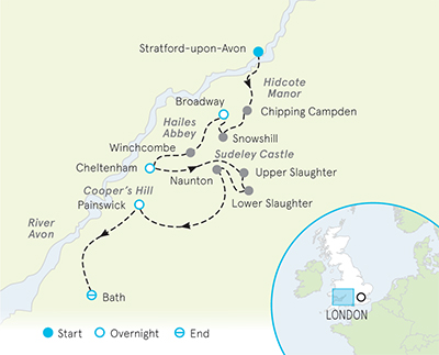 England Walking & Hiking Map
