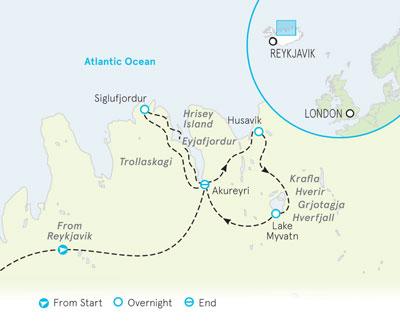 Iceland walking tour map