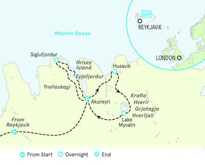Iceland Family Walking Tour Map