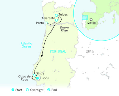 Portugal walking tour map