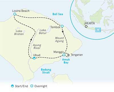 Bali Bike Tour Map