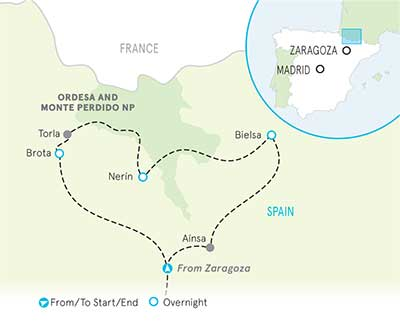 Spanish Pyrenees Map
