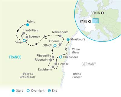 Champagne & Alsace Map