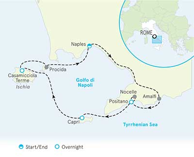 Almalfi Coast Map
