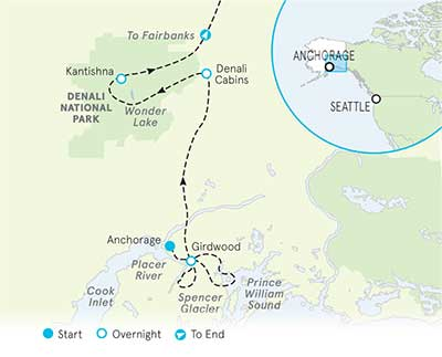 Deali, Alaska Map