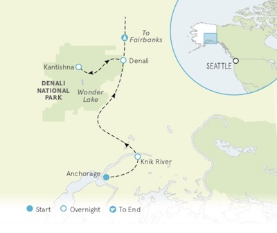 Alaska Walking tour map
