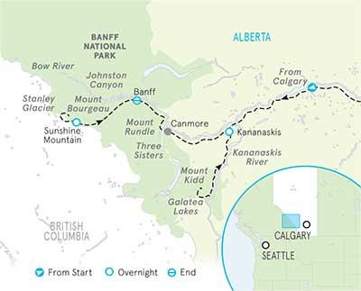 Banff & Kananaskis Map