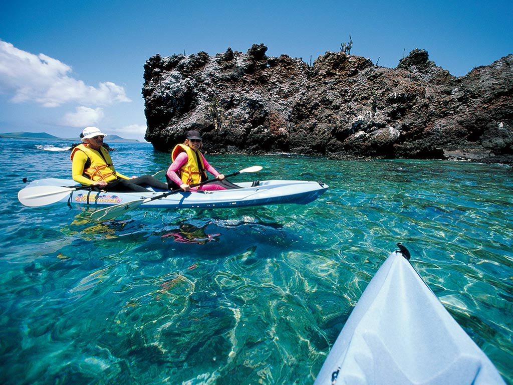 Kayakers - Galapagos Ocean Cruise Family Multi-Adventure Tour