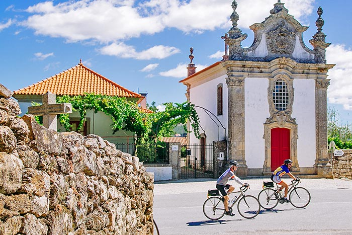 Biking on Portugal's Douro Full Ship Celebration River Cruise Bike Tour