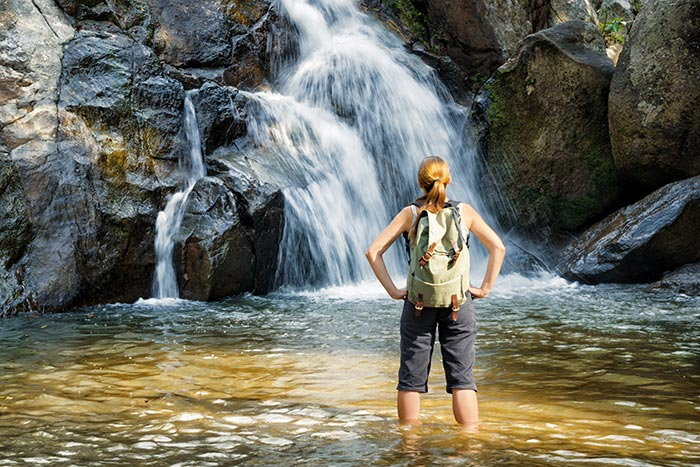 Waterfalls on Backroads Costa Rica & Panama Ocean Cruise Family Multi-Adventure Tour
