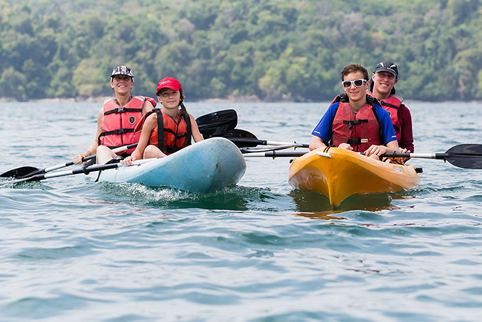 Kayaking on Backroads Costa Rica & Panama Ocean Cruise Family Multi-Adventure Tour