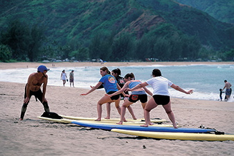 Family Surfing on Kauai