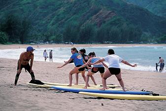 Family Surfing on Kauai