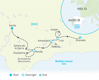 Map Of Spain Granada.Southern Spain Bike Tours Cycling Tour Andalucia Backroads
