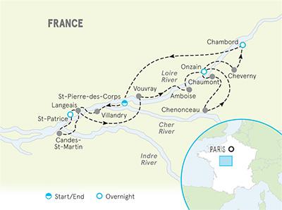 Map Of Rivers In France.Loire Valley Bike Tours Bike Tours Loire Valley France Backroads