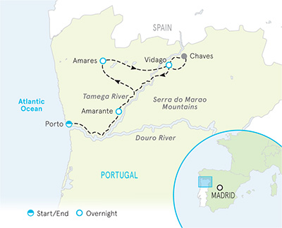 Map Of Northern Spain And Portugal.Portugal Douro Valley Bike Tours Biking In Douro Valley Backroads