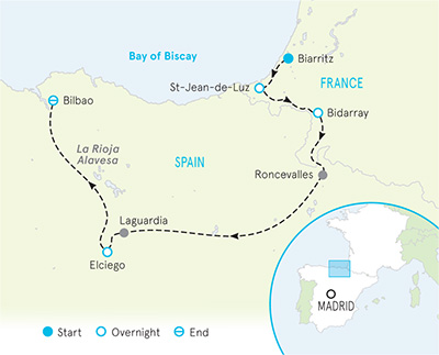 French Pyrenees & Spain Basque Country Walking & Hiking Tours on map of roubaix, map of evreux, map of singapore, map of lyon, map of newport, map of bandol, map of baracoa, map of glasgow, map of deauville, map of basques, map of porto, map of digne les bains, map of barcelona, map of mumbai, map of basel, map of europe, map of carmel-by-the-sea, map of palma de mallorca, map of toronto, map of bilbao,