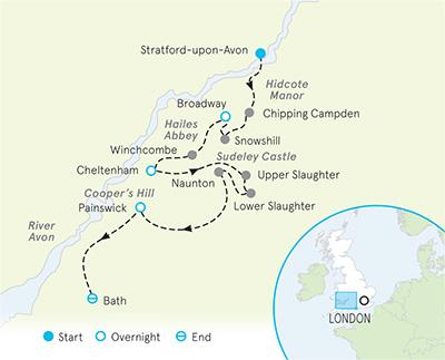 Map Of England Bath.Walking Tours England Cotswolds Walking Tours Cotswolds Hiking