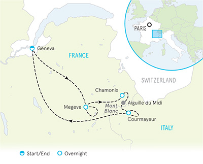 Map Of France Near Geneva.Hiking French Alps Italian Alps Hiking Tours Backroads