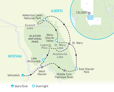 Glacier National Park Hiking Trips | Waterton Lakes Guided Trips